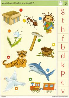 LOGICO Melyik hangot hallod a szó elején - Katus Csepeli - Picasa Webalbumok Alphabet Activities, Speech Therapy, Playroom, Preschool, Printables, Album, Teaching, Writing, Pikachu