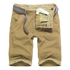 Pantalones cortos de algodón de verano para hombre de verano de corte puro Pantalones