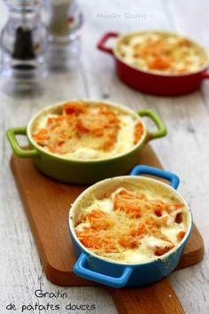 Gratin de patates douce à l'ail et gingembre