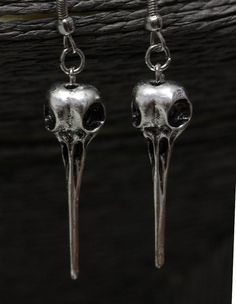 $9.99 BIRD SKULL EARRINGS RAVEN HUMMINGBIRD ANTIQUE SILVER CROW WICCA PAGAN WITCH GOTH @katybuggy http://www.ebay.com/itm/BIRD-SKULL-EARRINGS-RAVEN-HUMMINGBIRD-ANTIQUE-SILVER-CROW-WICCA-PAGAN-WITCH-GOTH-/322364813097?roken=cUgayN&soutkn=e7eKq6