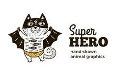 Cat in Superhero costume character on white background Royalty Free Stock Images