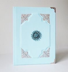 Blue Turquoise Leather Journal Art Notebook Diary for Women, Girls, A5 Notebook, Notebook Ideas, Handmade Notebook, Handmade Books, Custom Leather, Handmade Leather, Leather Photo Albums, Journal Diary, Leather Books