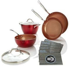 Simply Ming Diamond Series 6-piece Cookware Set with Technolon+