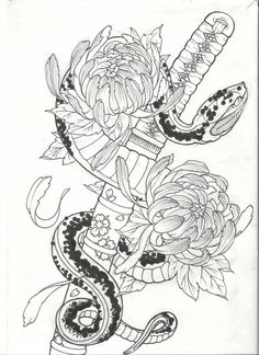 #Desing #Diseño #Tattoo #Poney #Piton #Sable Asian Tattoos, Leg Tattoos, Body Art Tattoos, Sleeve Tattoos, Tattos, Japanese Snake Tattoo, Japanese Tattoo Designs, Dibujos Tattoo, Desenho Tattoo