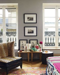 Designer Olivier Gagnère mixes exotic textiles and bold colors in his Left Bank flat