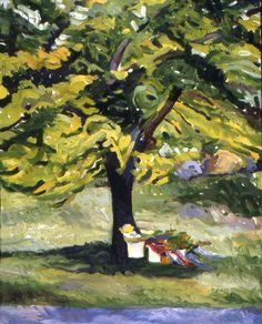 "1. ""Flowers Under the Tree"" by Paula McHugh"