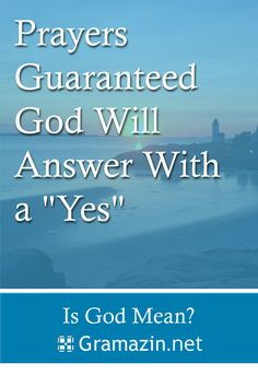 """Can you imagine God saying """"no"""" to any one of these prayer requests?  Can you imagine God saying """"not yet"""" either?  I honestly don't believe either of these.  I believe that if you offer these prayers up this moment and believe He will answer them, the """"absolutely"""" has already been spoken by Him."""