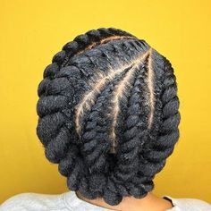 60 Easy and Showy Protective Hairstyles for Natural Hair - Protective Chunky Flat Twists Updo Informations About 60 Easy and Showy Protective Hairstyles for Na - Protective Hairstyles For Natural Hair, Natural Hair Twists, Natural Hair Care, Natural Hair Braid Styles, Cornrows Natural Hair, Natural Updo Hairstyles, Protective Braids, Updo Cabello Natural, Pelo Natural