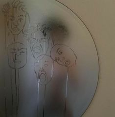 """I think this is someone making faces in a fogged up mirror and """"drawing"""" them in the condensation Kunst I think this is someone making faces in a fogg. Inspiration Art, Art Inspo, Aesthetic Art, Aesthetic Pictures, Aesthetic Drawings, Art Hoe, Wall Collage, Oeuvre D'art, Wallpaper"""