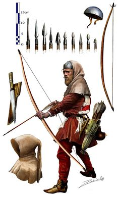 English Longbow at the Hundred Years' War by Pablo Outeiral