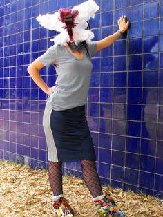 Flada Drapeada al frentes con ribetes en los costados@LacayoPez Pasen a darle LiKE a nuestra página!! http://www.facebook.com/pages/Lacayo-Pez-Prendas-Experimentales/263209390376930?ref=ts=ts #FASHION #CLOTHES #CONCEPTUAL #ART #DESIGN