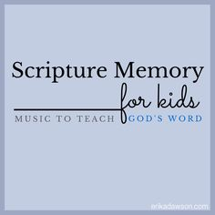 One of the easiest {and most fun!} ways to memorize God's Word is through music! Check out this great list of Scripture music for kids!