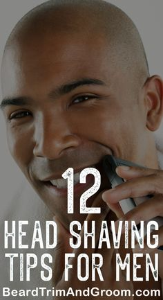 Shaving your head smooth is easy and You can still get that super-smooth bald head without shaving against the grain because this can cause breakouts, irritation and give you razor bumps. Read our head shaving guide which tells you simple steps to foll Shaving Head Bald, Shaving Cut, Shaving Your Head, Shaving Tips, Bald Head Man, Best Shaving Cream, Bald Men Style, Shave My Head, Razor Bumps