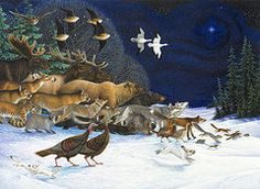 Christmas Paintings - The Christmas Star  by Lynn Bywaters