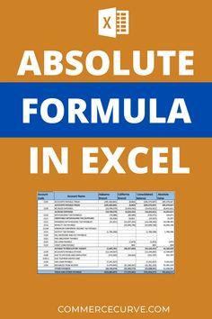 Computer Shortcut Keys, Computer Basics, Financial Modeling, Financial Tips, Negative Integers, Trial Balance, General Ledger, Excel Calendar, Absolute Value
