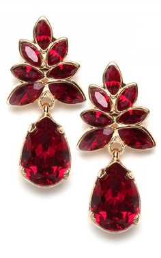 Need fantastic hints about fashion? Head to my amazing website! Red Garnet, Ruby Red, Jewelry Box, Fine Jewelry, Garnet Earrings, Prom Earrings, Sapphire Earrings, Shades Of Burgundy, Red Fashion