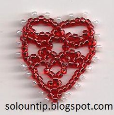 How to make a heart with beads: Crafts | Solountip.com