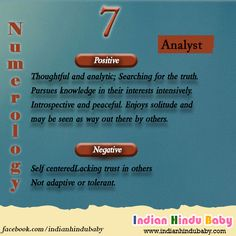 Know what is the rulling points of the people with number 7 and know baby names based on that - https://www.indianhindubaby.com/numerology-number-7/