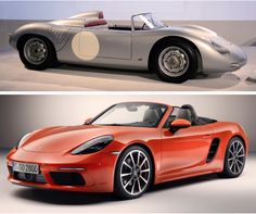 Porsche 718 RS Spyder, 1961 and Porsche 718 Boxster, 2016