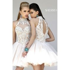 Sherri Hill 21193 Ivory Nude Unforgettable Cocktail Dress ❤ liked on Polyvore featuring dresses, 2014 sherri hill dresses, sherri hill, sherri hill dresses, sherri hill prom dresses, floral homecoming dresses, ivory lace dress, nude lace dress, lace homecoming dresses and homecoming dresses