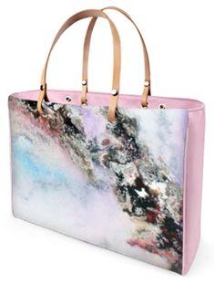 4ea5a23255e60 C.Fischer Exzellente Designer Handtasche mit Satindruck  Insel der Träume