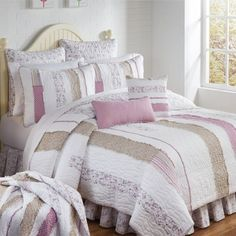 Lavender Rail Quilted Bedding Collection