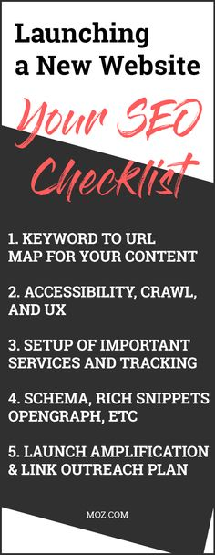 Launching a New Website: Your SEO Checklist - Whiteboard Friday - Search Engine Optimization Seo Guide, Seo Tips, Marketing Website, Online Marketing, Digital Marketing, Whiteboard Friday, Three Letter Words, Seo For Beginners, Seo Keywords