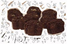 Brownie muffins with mascarpone cheese.   via dziarskapara.blogspot.com