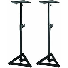 These stands are designed for home and project recording studios. The height is adjustable for either sitting or standing listening and it will lock in place with a security pin. Entire stand is foldable into three pieces for easy storage and travel. Studio Equipment, Dj Equipment, Leveling Floor, Monitor Speaker Stands, Studio Headphones, Home Storage Solutions, Laptop Stand, House Design, Pairs