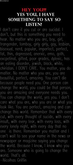 this is so true everyone should read this to lift your spirits in hard times