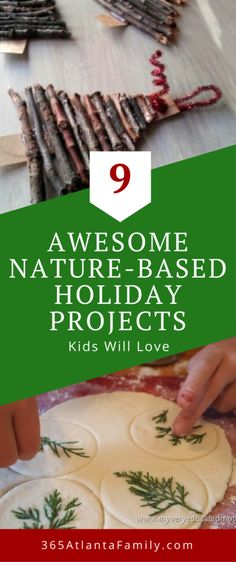 Your kids will love creating these 9 nature based holiday projects! The projects. Your kids will love creating these 9 nature based holiday projects! The projects are easy, fun, cre Holiday Crafts For Kids, Family Christmas Gifts, Toddler Christmas, Handmade Christmas Gifts, Crafts For Kids To Make, Homemade Christmas, Christmas Diy, Holiday Gifts, Outdoor Christmas Gifts For Kids