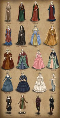 Claris- A Lady's Progress by temiel.deviantart… on Specifcially XI… – Kayla Doane Claris- A Lady's Progress by temiel.deviantart… on Specifcially XI… Claris- A Lady's Progress by temiel.deviantart… on Specifcially XI Reunion France Medieval Fashion, Medieval Dress, Medieval Clothing, Women's Clothing, Tudor Dress, Vintage Dresses, Vintage Outfits, Vintage Fashion, 1800s Fashion