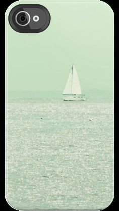 I'll Be Right Back 2 - Photography - Sailing, Sailboat, Summer, Ocean, Sea, iPhone 4 4s Cell Phone Case ipad ipod laptop skin. $34.95, via Etsy.