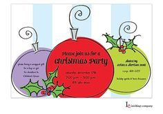 Ornament Exchange Christmas Party Invitations