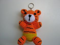 'Handmade  Tiger Key Chain  ' is going up for auction at  4am Wed, Nov 28 with a starting bid of $5.