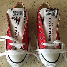 Atlanta Falcons Converse Sneakers - http://cutesportsfan.com/atlanta-falcons-designed-sneakers/