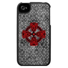 Red+Celtic+Cross+Distressed+Background+iPhone+4+Case