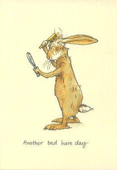 Another Bad Hare Day by Anita Jeram design illustration artists Art And Illustration, Anita Jeram, Arte Sketchbook, Rabbit Art, Bunny Art, Hare, Cute Drawings, Easter Drawings, Cute Art