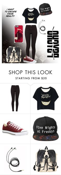 """""""A Whole Lot of Crazy"""" by chibi-space-gal ❤ liked on Polyvore featuring American Apparel, Converse and fashionset"""