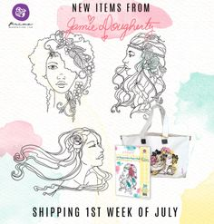 Are you as excited as we are? Jamie's new Bloom Girl line has the most beautiful products...      five new gorgeous Bloom Girl stamps!     an artsy A4 watercolor paper pad!     a fabulous alterable tote!     and a few secret products!  Just think of the WONDERFUL possibilities with this new line! Items will ship the first week of July so get your local scrapbook store owner to order this hot-selling line NOW. #bloomgirls #chasummer #sneakpeeks @jamiedougherty
