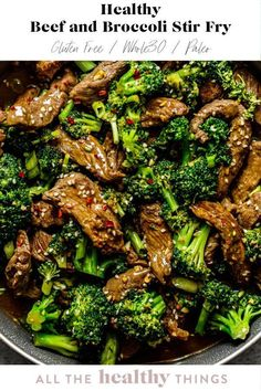 20 minutes · Gluten free · Serves 4 · Healthy Beef and Broccoli Stir Fry is an easy ten minute meal that the whole family will love. Made with fresh and flavorful ingredients this copycat takeout recipe is so simple that you will never… Beef Broccoli Stir Fry, Healthy Beef And Broccoli, Steak And Broccoli, Healthy Stir Fry, Broccoli Recipes, Beef With Broccoli Recipe, Easy Beef Stir Fry, Stir Fry Meal Prep, Cauliflower Stir Fry