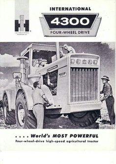 4300 FWD Ad Farmall Tractors, John Deere Tractors, Old Tractors, Tractor Mower, Tractor Parts, International Tractors, International Harvester Truck, Vintage Tractors, Vintage Farm