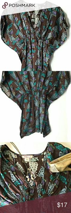 "Urban Outfitters ""Lux"" Silk Kimono Blouse In excellent condition.  No signs of wear.  Size small Smoke and pet free home. Ships within one day. Urban Outfitters Tops Blouses"