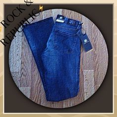 ⚡️NEW ROCK & REPUBLIC JEANS⚡️ ROCK & REPUBLIC BOOTCUT JEANS SIZE 6R HAZMAT STYLE WOMEN'S GREAT QUALITY JEANS! Rock & Republic Jeans