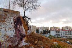 Borondo in Lagos, Portugal for ARTURb September 2014  #StreetArt  #mural #graffiti
