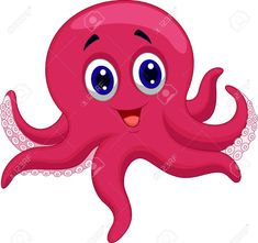 """Buy the royalty-free Stock vector """"Vector illustration of Octopus cartoon"""" online ✓ All rights included ✓ High resolution vector file for print, web & S."""
