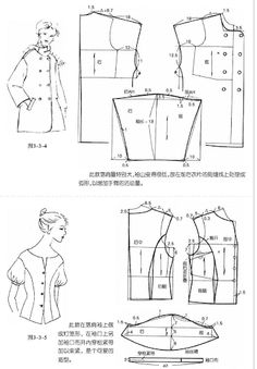 Chinese pattern for coat/shirt