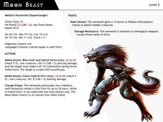 DnD-Next-Npc Cards-Moon Beast by dizman.deviantart.com on @DeviantArt
