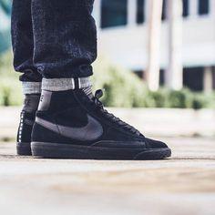 Fashion Nike Blazer Mid Premium Mens Shoes Black