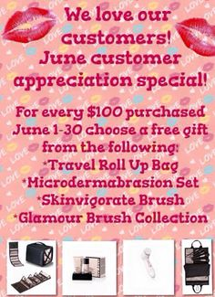 JUNE CUSTOMER APPRECIATION MONTH TODAY ONLY ON-LINE save 25% OFF your ENTIRE ORDER over $40! www.marykay.com/brookeramsey It all adds up! I'm keeping tabs on what you spend this month. Just so you can earn one of these AMAZING PRODUCTS! Please lmk if I can assist you. At check out in the comment section PM me for PROMO CODE. #Sale #CyberMonday